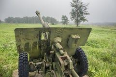 第二次世界大战苏联军用大炮 免版税库存图片