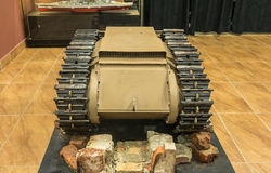 第二次世界大战-小坦克前面 免版税库存图片