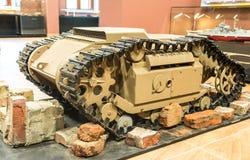 第二次世界大战-小坦克后面视图 免版税库存图片