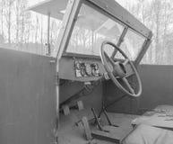 第二次世界大战黑白,俄国装甲车  免版税库存照片