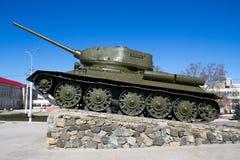 第二次世界大战t - 34的坦克 免版税库存图片