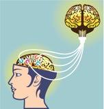 第二脑子被连接的例证额外脑子 免版税图库摄影