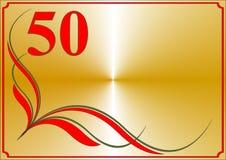 第五十个周年纪念看板卡 免版税图库摄影