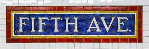第五大道地铁站 免版税图库摄影
