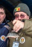 第八个世界冰渔冠军在哈尔科夫地区, 2011年2月5-6的乌克兰, 免版税库存照片