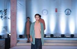 第六个系列伊语言时尚展示 免版税库存照片