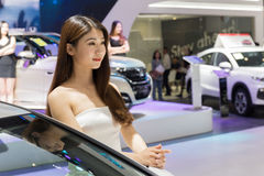 第六`绵阳春天`国际汽车展打开了 库存图片