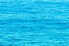 第勒尼安海的水 免版税库存照片