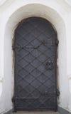第十七centur的东正教的木门 免版税库存图片