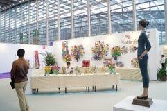 第十中国(深圳)国际文化产业公平在冬天工艺画展 库存照片