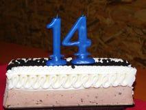 第十四生日蛋糕 免版税库存照片