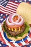 第四个汉堡包水多的7月 免版税库存照片