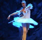 第四个领域雪国家-芭蕾胡桃钳浮动雪这首先行动  免版税库存图片