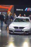 第四个系列莫斯科国际汽车沙龙的BMW汽车 库存图片