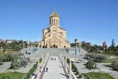 第比利斯三位一体大教堂 库存照片