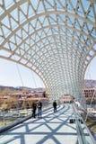 第比利斯和平桥梁 免版税库存照片
