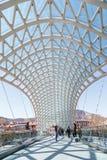 第比利斯和平桥梁 图库摄影