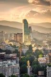 第比利斯地区看法  免版税库存图片