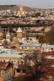 第比利斯屋顶和圆顶  免版税库存照片