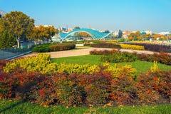第比利斯市在秋天 库存图片