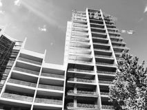 第比利斯,乔治亚- 2018年3月25日:一个新的高住宅公寓的建筑在第比利斯,乔治亚 图库摄影