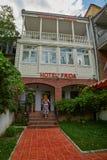 第比利斯,乔治亚- 2017年7月31日:第比利斯Ci的传统旅馆 免版税库存图片