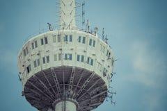 第比利斯,乔治亚- 2016年5月07日:第比利斯电视塔的片段 免版税库存照片