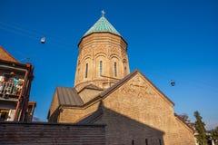 第比利斯,乔治亚- 2015年7月18日 XIII世纪圣乔治看法  库存图片