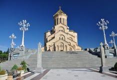 第比利斯, Sameba三位一体大教堂  库存照片