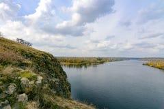 第聂伯河的岩石 免版税库存照片