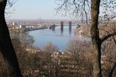 第聂伯河的看法在基辅 免版税库存图片