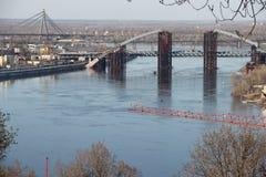 第聂伯河的看法在基辅 图库摄影