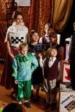 儿童scotish音乐展示 免版税库存图片