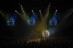 第聂伯罗彼得罗夫斯克,乌克兰- 2012年10月31日:蝎子摇滚乐队 库存照片