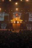 第聂伯罗彼得罗夫斯克,乌克兰- 2012年10月31日:蝎子摇滚乐队 图库摄影