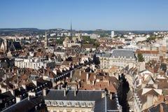 第茂市鸟瞰图伯根地的,法国 免版税库存图片