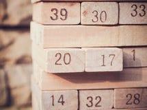 第2017年与在玩具数字块的新年 免版税库存照片