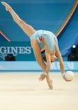 第32世界冠军在节奏体操方面 库存图片