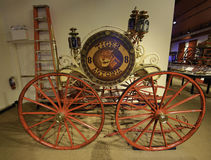 消防在由纽约火博物馆的纽约 免版税库存图片