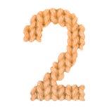 第2两字母表,上色桔子 库存图片