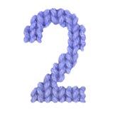 第2两字母表,上色深蓝 免版税图库摄影