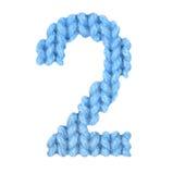 第2两字母表,上色蓝色 免版税库存图片