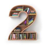 第2两 以架子的形式字母表与书孤立 免版税图库摄影