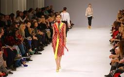 第39个乌克兰时尚星期 汇集标签一 库存图片