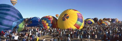 第25个亚伯科基国际气球节日,新墨西哥 库存照片