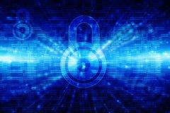 第2个例证安全概念:在数字式背景,互联网安全背景的闭合的挂锁 库存照片