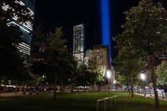 9/11第13个周年@爆心投影42 库存照片