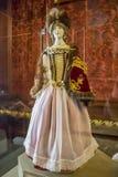 第16个和第18个世纪的涅斯维日城堡大厦的内部白俄罗斯的建筑学的纪念碑201的6月30日, 库存图片