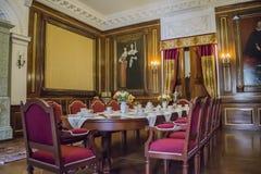 第16个和第18个世纪的涅斯维日城堡大厦的内部白俄罗斯的建筑学的纪念碑 免版税库存图片
