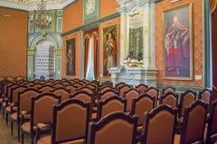 第16个和第18个世纪的涅斯维日城堡大厦的内部白俄罗斯的建筑学的纪念碑 库存照片